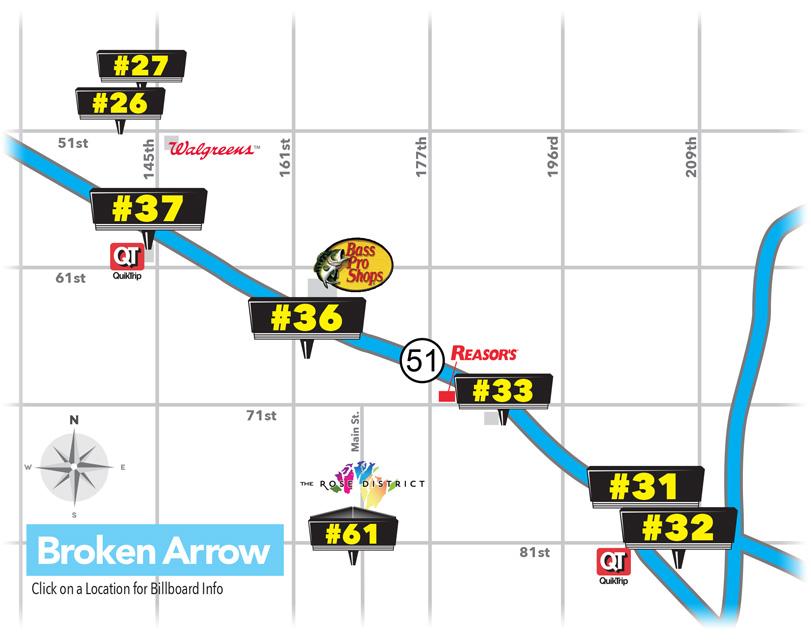 Billboard Locations in Broken Arrow, OK