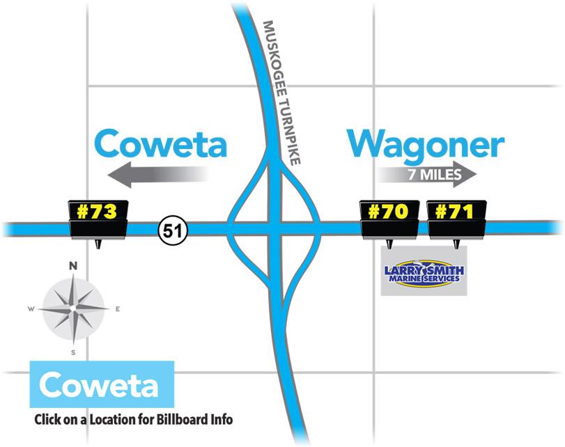 Premium Billboard Locations in Coweta, Oklahoma