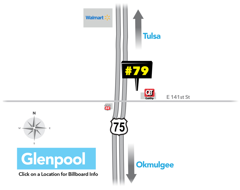Premium Billboard Locations in Glenpool, Oklahoma